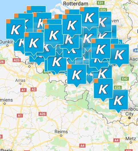 Krëfel winkels België