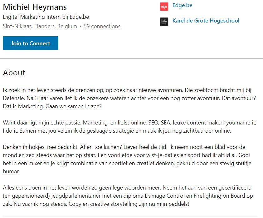 Michiel Heymans -Personal Brandstory